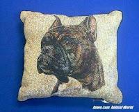 Brindle Boxer Dog Pillow