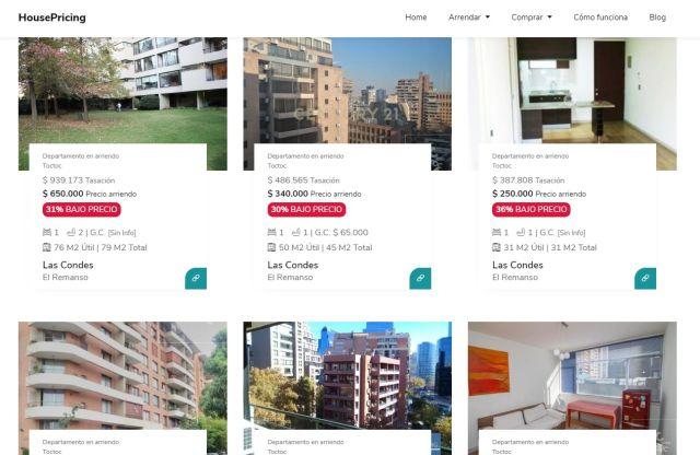 Plataforma inmobiliaria web