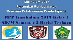 RPP Kurikulum 2013 Kelas 1 SD/M Semester 2 Revisi Terbaru