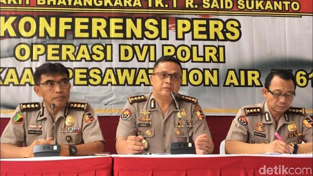 DVI Polri Ingatkan Keluarga Korban Lion Air Waspada Penipuan