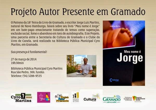 Projeto Autor Presente em Gramado/RS
