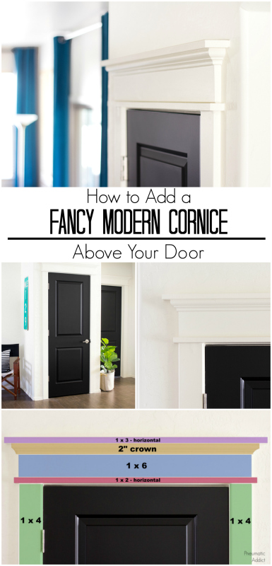 How to upgrade moulding by adding a modern cornice above your door