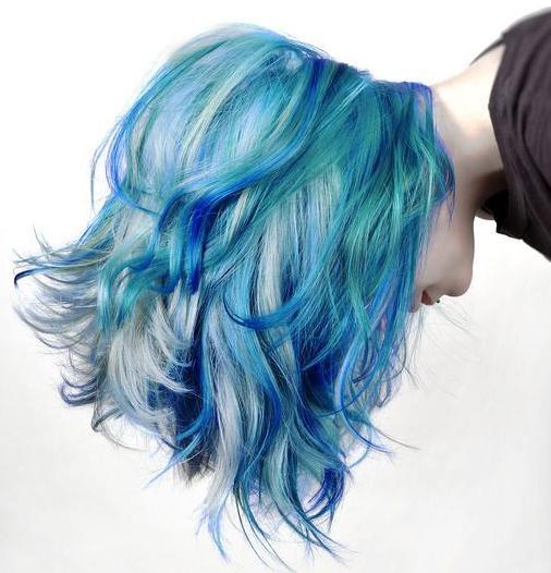gaya warna rambut granny macam warna