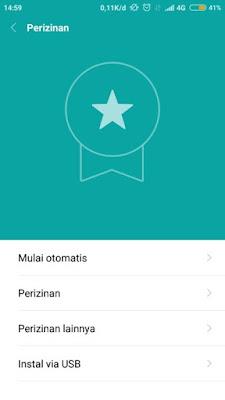 Setelan HP Android Xiaomi Perizinan