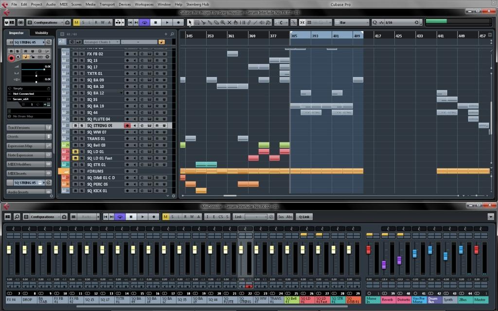 Cubase Pro 8 Screenshot
