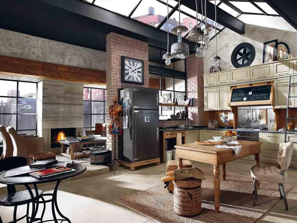 Urban chic la forma grezza dell 39 industriale - Cucine urban style ...