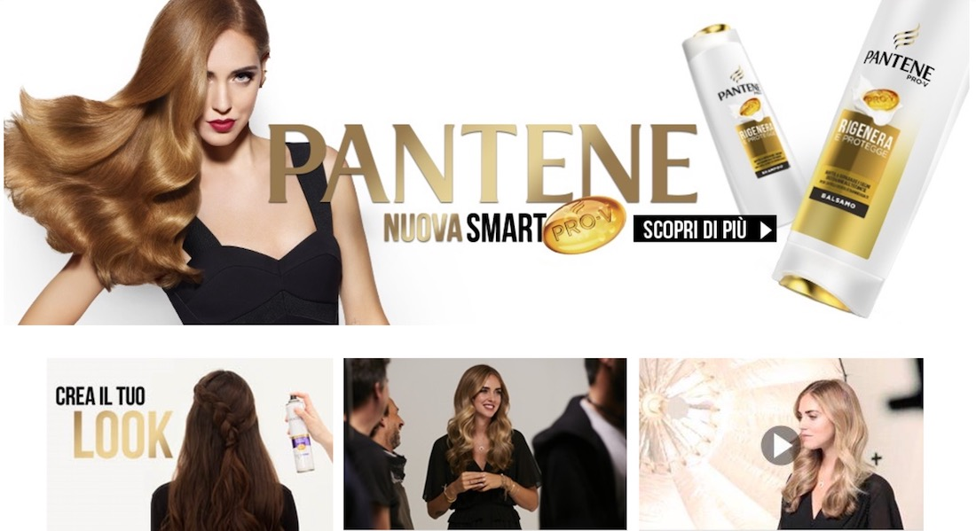 Chiara Ferragni, testimonial spot Pantene 2017