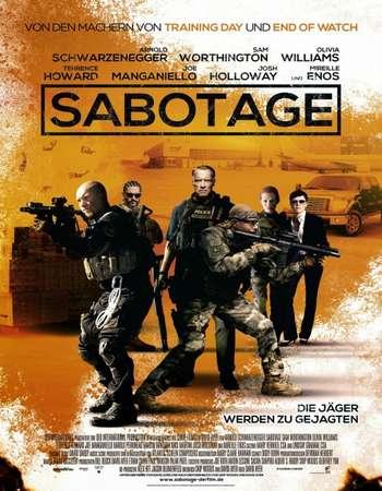 Poster Of Sabotage 2014 Hindi Dual Audio 500MB BluRay 720p ESubs HEVC Free Download Watch Online downloadhub.in