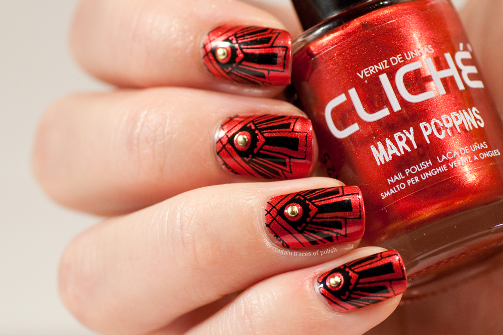 art deco nail art may contain traces of polish. Black Bedroom Furniture Sets. Home Design Ideas