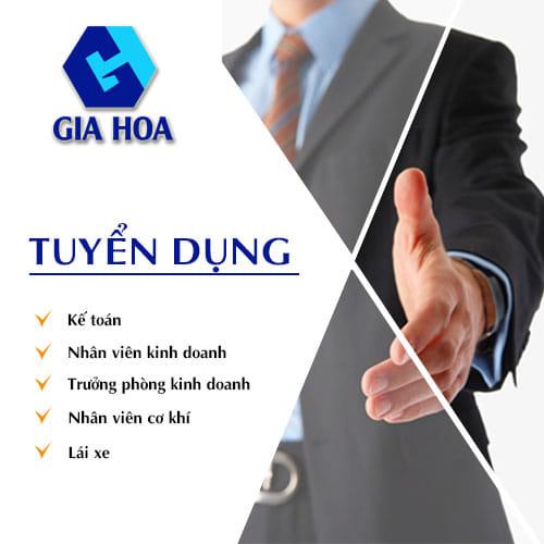 Công ty Gia Hòa Quy Nhơn thông báo tuyển dụng