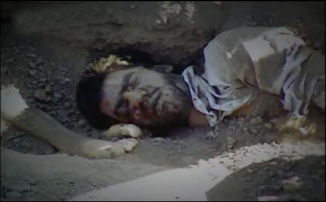 پیکرمجاهد شهید یوسف هیبدی در گورستان خاوران