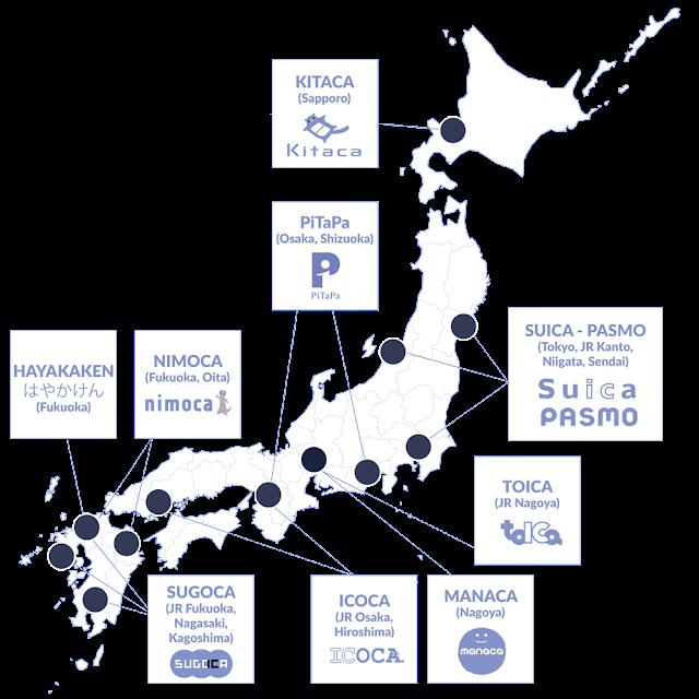 infographie répartition géographique cartes IC Japon