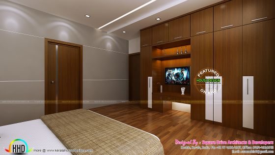Superb master bedroom interior