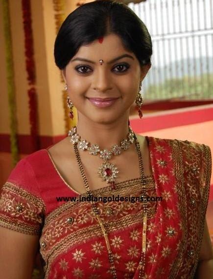 Gold and Diamond jewellery designs: sneha wagh in kundan ...  Gold and Diamon...