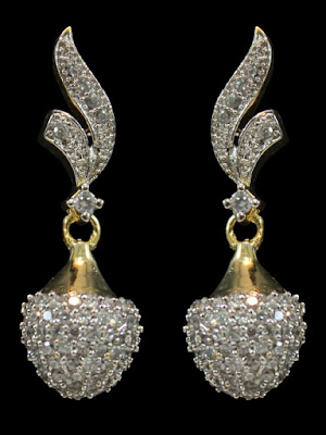 American Diamond Ear Drop Designs