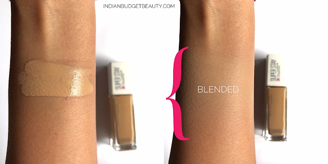 maybelline superstay foundation 220 swatch