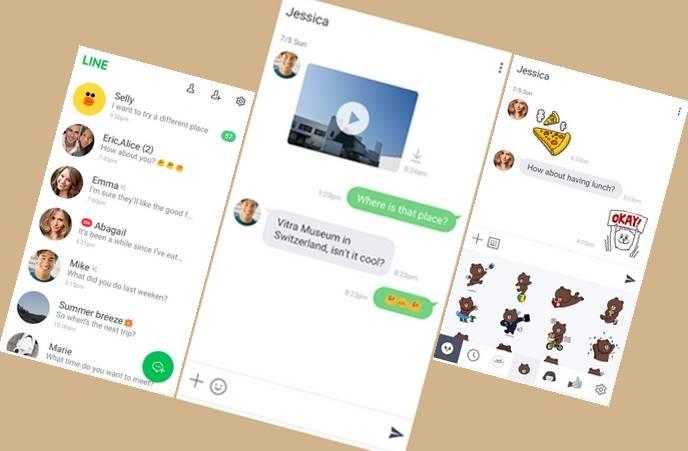 Download Aplikasi LINE Chat versi Ringan APK gratis terbaru untuk HP Android memori RAM rendah kecil