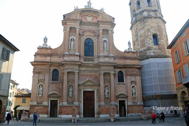 La iglesia de San Próspero, Reggio Emilia, Italia
