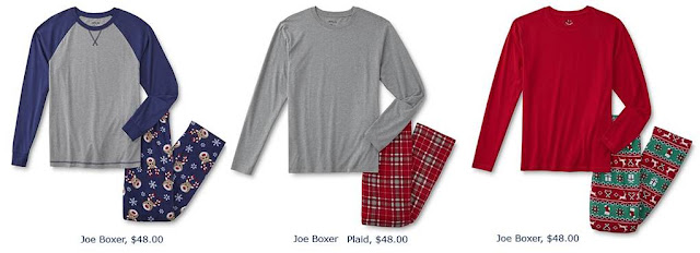 Joe Boxer Pajamas Holiday 2016