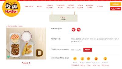 menu hokben