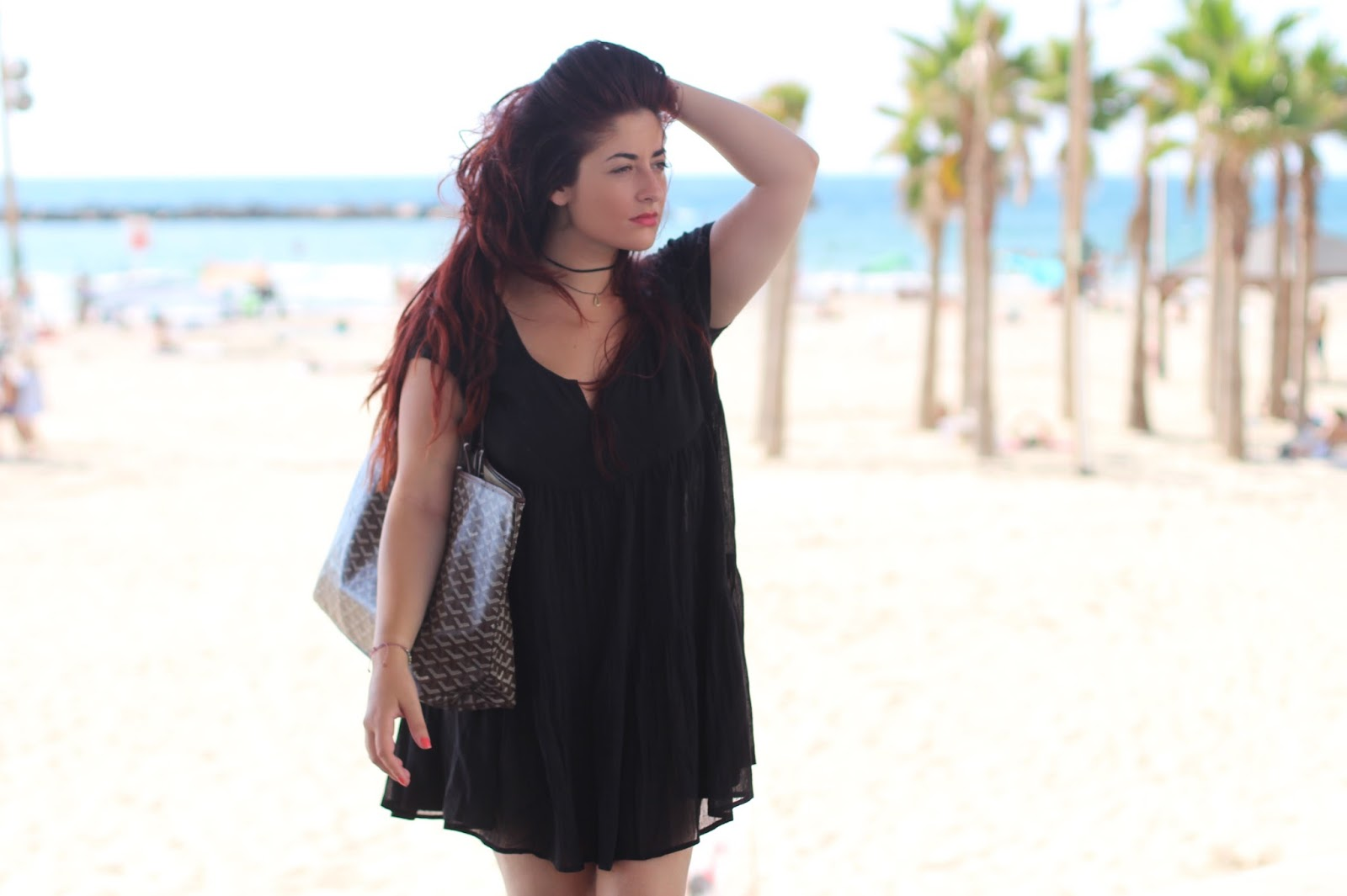 robe noire de plage asos