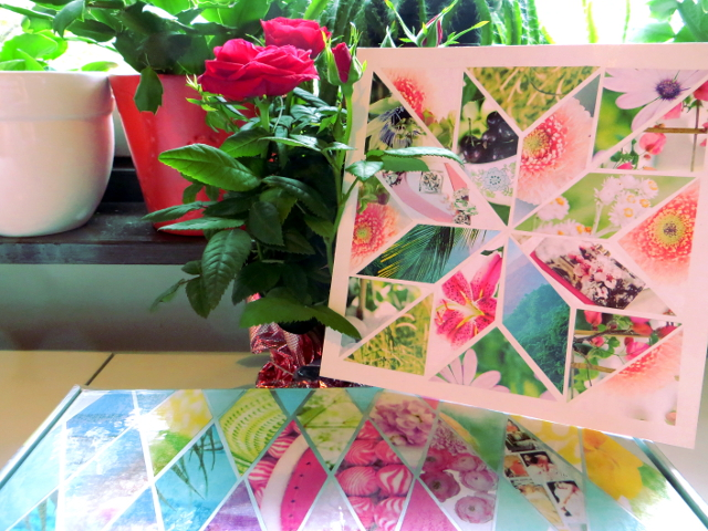 diamond collage mother's day card