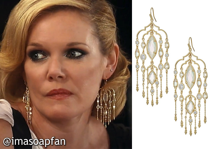 Ava Jerome, Maura West, Crystal Chandelier Earrings, Kendra Scott, Nurses Ball, GH, General Hospital
