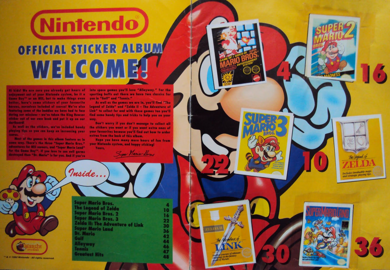 Mario Stickers Book – Quotes of the Day