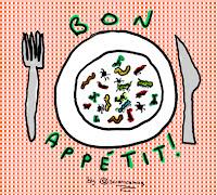 Disegno di un piatto di insetti pronti per essere mangiati (by sciencemug)