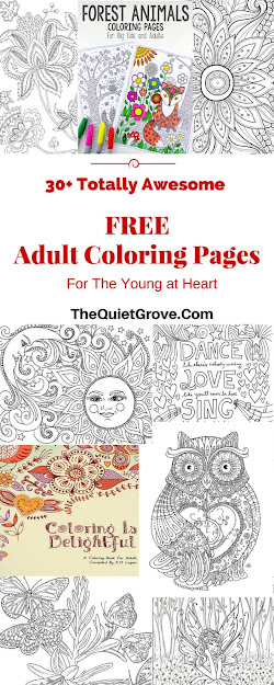 Totally Awesome Free Adult Coloring Pages