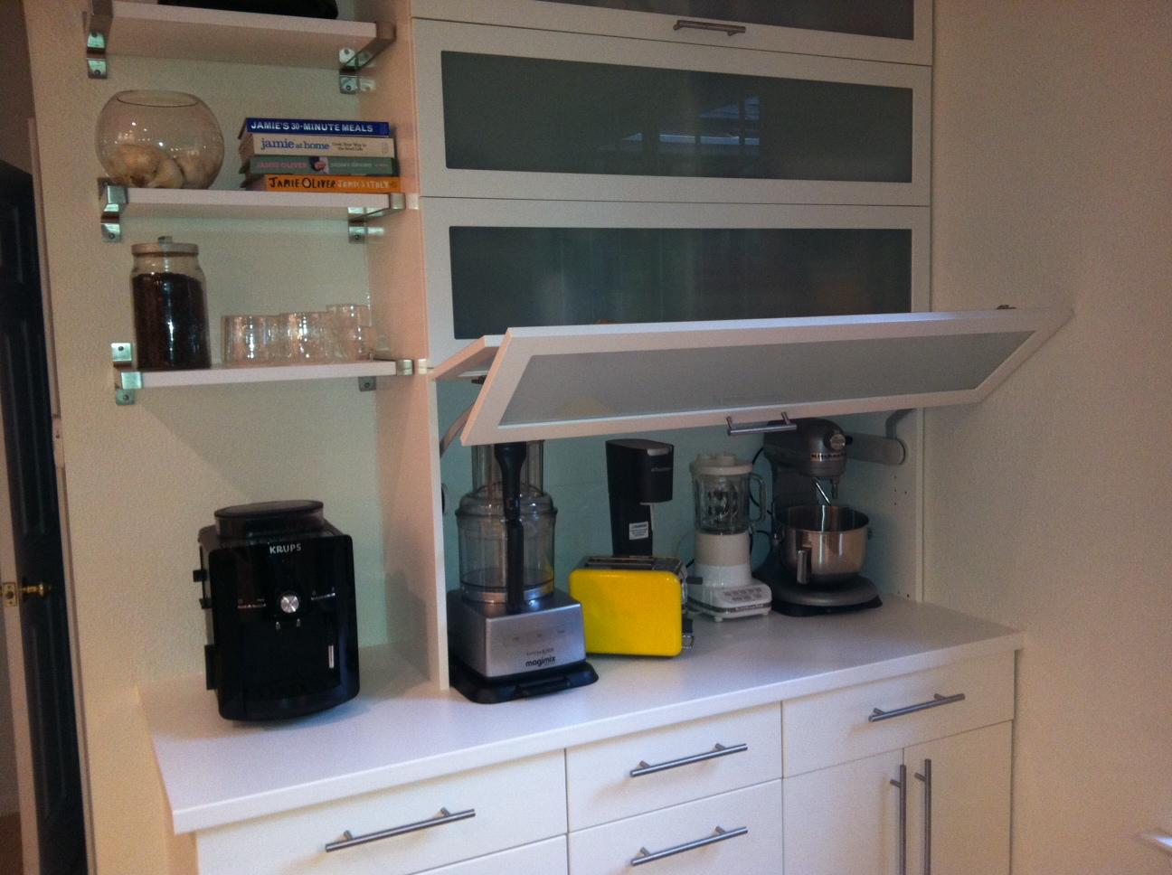 kitchen appliance shelf ninja mega 1500 garage get home decorating