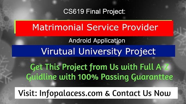 Matrimonial Service Provider FYP CS619