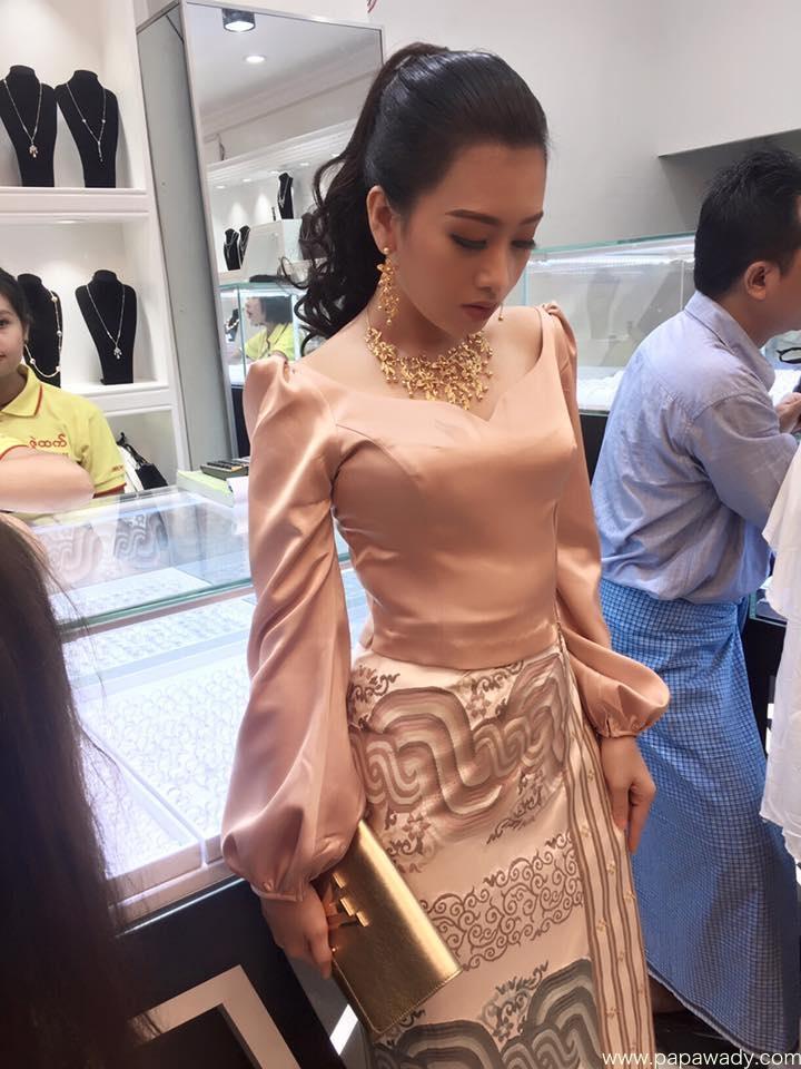 Yu Thandar Tin Fashion At Jewelry Store Opening