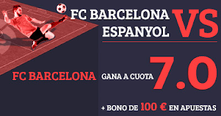 Paston Megacuota 7 gana Barcelona vs Espanyol + 100 euros 9 septiembre