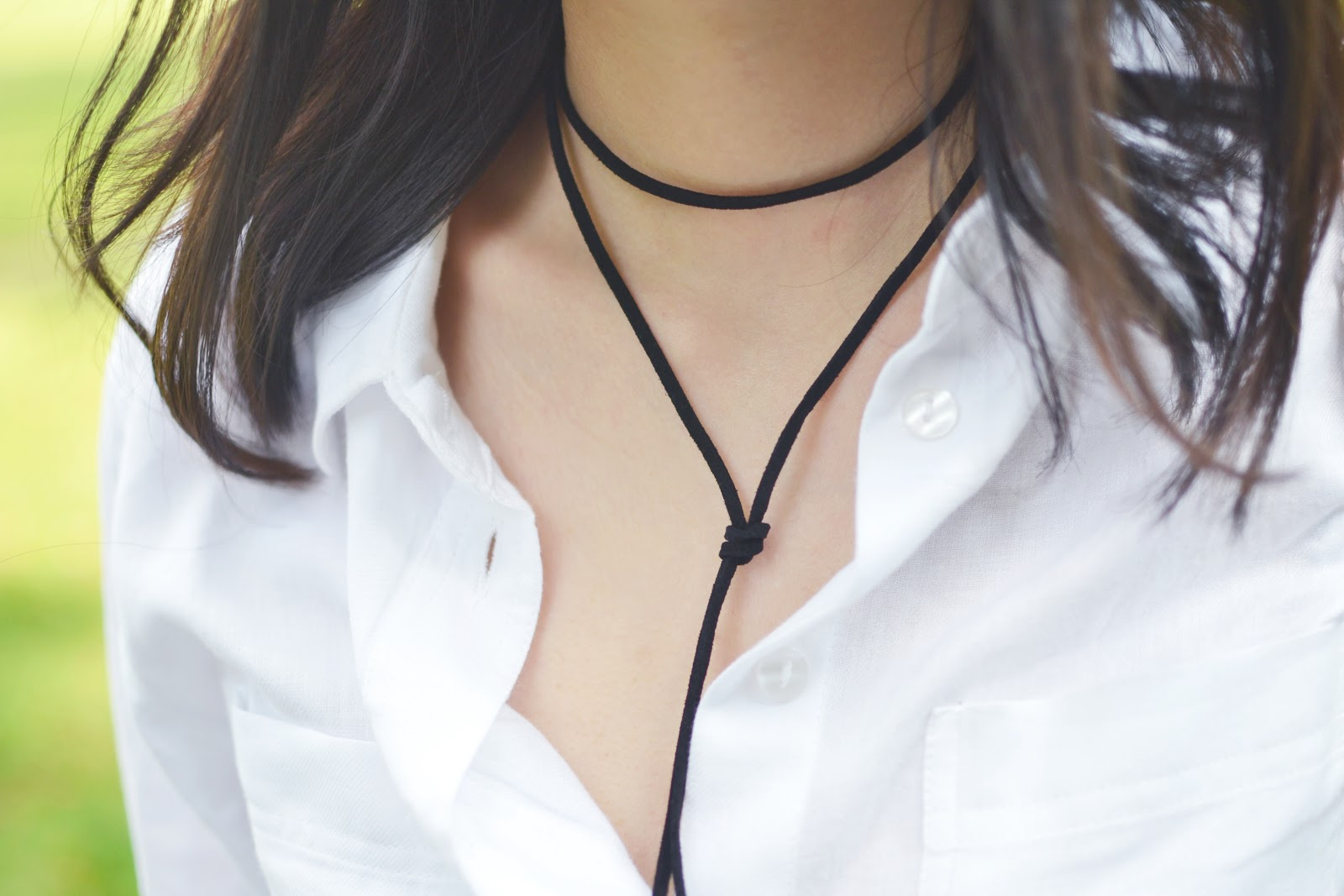 90s style suede choker necklace