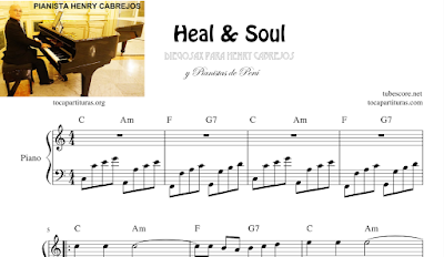 Heal and Soul Partitura de Piano Fácil con Acordes