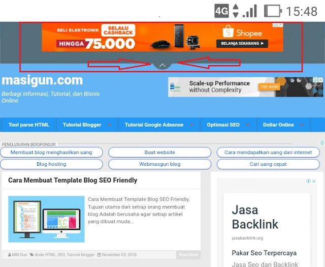 Cara Pasang Iklan Anchor Pada Blogger