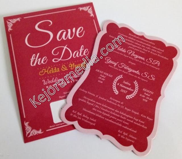 undangan pernikahan hardcover elegan brebes kuningan