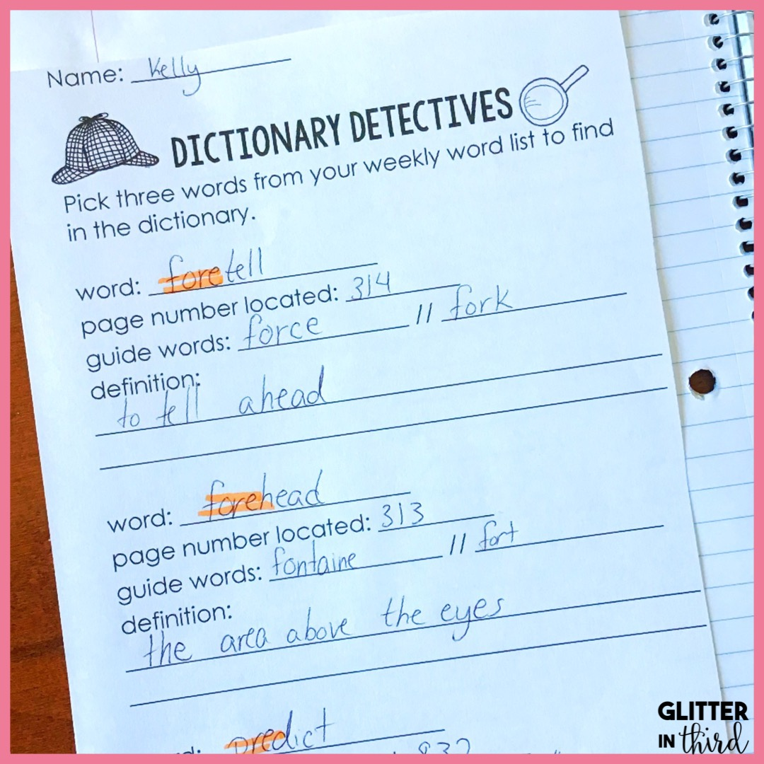 medium resolution of How to implement morphology notebooks in your classroom - Glitter in Third
