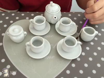 Mini juego de té pintado