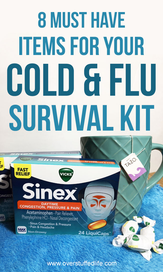 Make sure to be ready for cold and flu season with a survival kit that includes everything you need to be ready for sickness in your home.