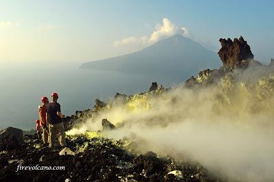 Anak Krakatau Crater