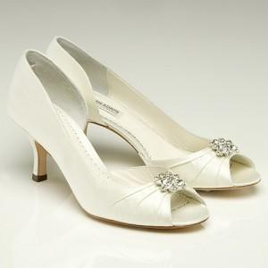 Most Popular Ivory Peep Toe Wedding Shoes