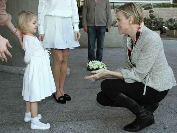 Princess Charlene of Monaco attended the opening of the Monte-Carlo Munchkins Club in Monaco
