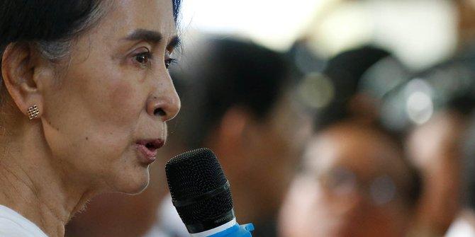 Pilih Absen dari Sidang Umum PBB, Aung Suu Kyi Takut Dikritik Soal Rohingya?