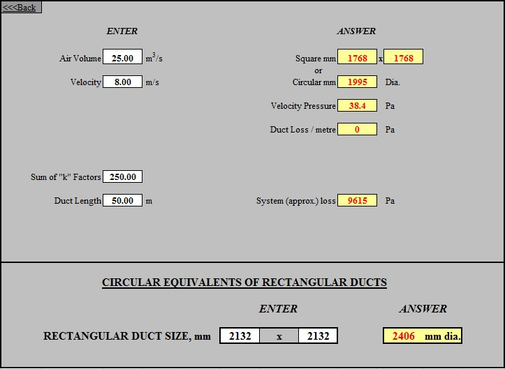 Pipe Sizing Calculation Excel Sheet