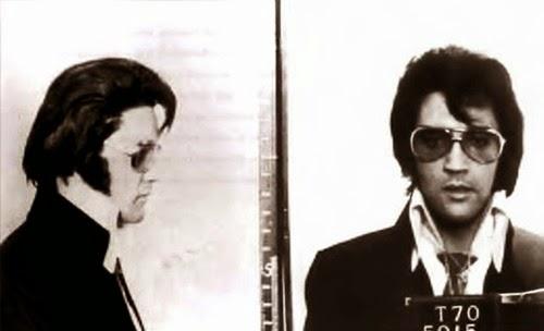 Elvis Presley's Mugshot Taken at the FBI Headquarters in