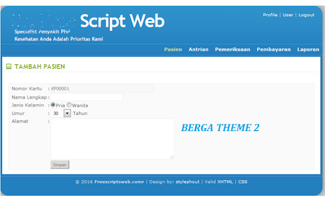 Source Code Aplikasi Klink Berbasis Jaringan LAN / WAN dengan Berbasis WEB PHP & MYSQL Versi 2.0