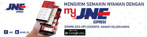 MyJNE aplikasi tracking JNE