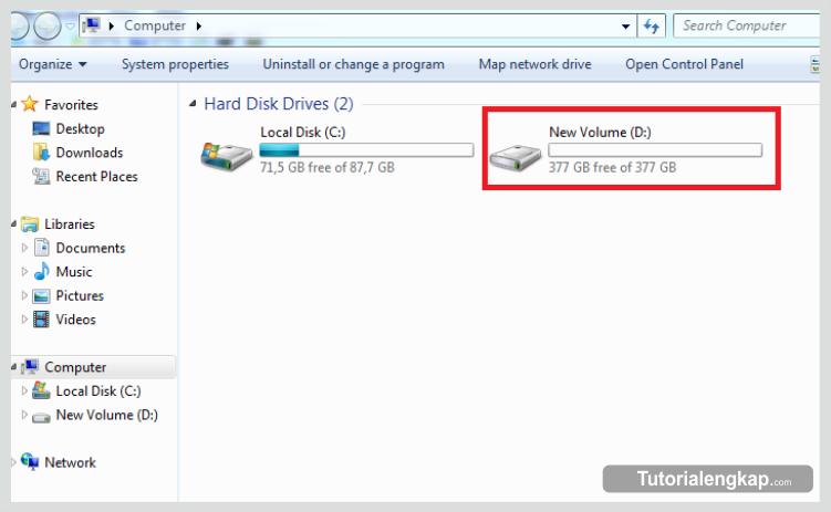 Tutorialengkap.com, how to make new partition on windows, cara terbaru membuat partisi hardisk, cara yang benar dalam membuat partisi hardisk, tutorial cara membuat partisi, langkah mudah membuat partisi hardisk tanpa bantuan apliakasi pihak ketiga